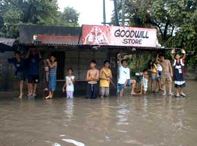 In this photo, courtesy of the CDRC, residents in Central Luzon are affected by a flooding years ago.