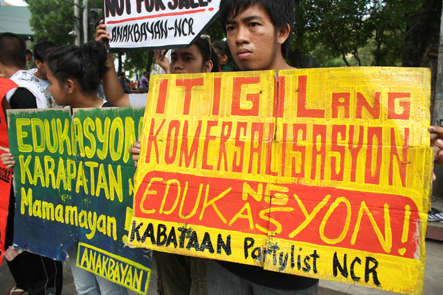 Tertiary education costlier under Aquino, youth groups say