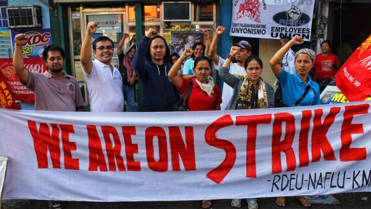 Radio workers go on strike to defend their jobs, union
