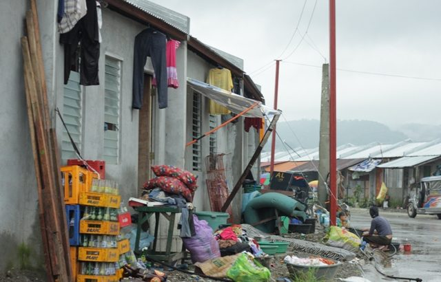 Relocation site almost wiped out by typhoon