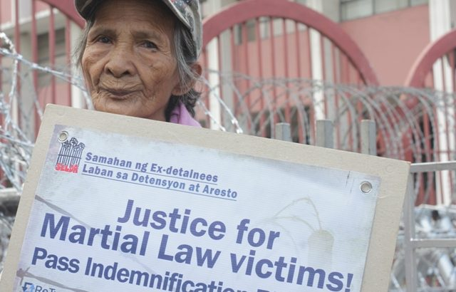 Martial law victims call on gov't to implement reparation law