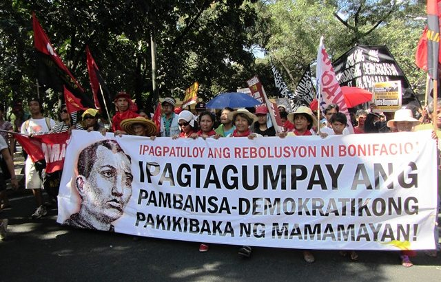Celebrating Bonifacio150 with protests