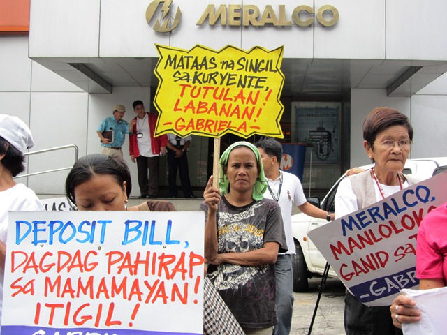 Meralco rate hike, bill deposit charge denounced as 'acts of greed'