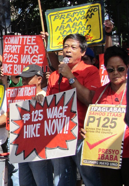 On last 6 session days of Congress, workers press for passage of P125 wage hike bill