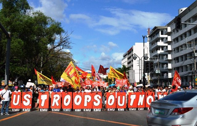 Workers mark Edsa anniv with US Embassy march