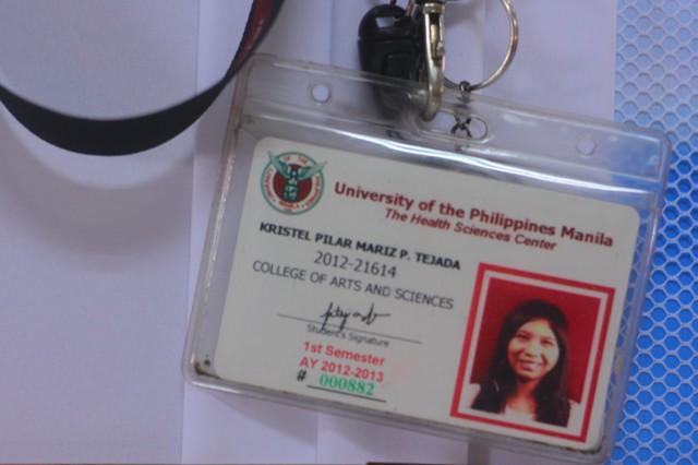 BULATLAT FILE PHOTO. Kristel Tejada's student ID.
