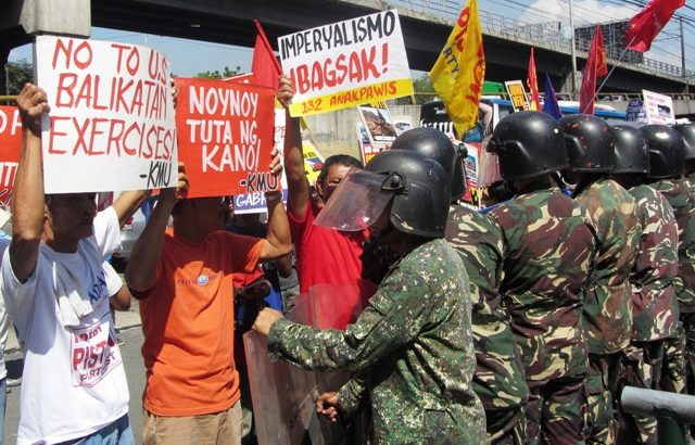 Caravan vs 2013 Balikatan military exercises ongoing