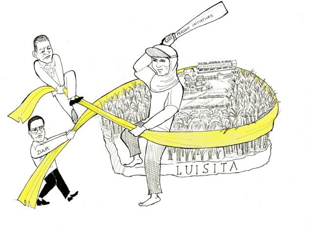 cartn_HLI ribboncutting-Breaking land monopoly at Hacienda Luisita