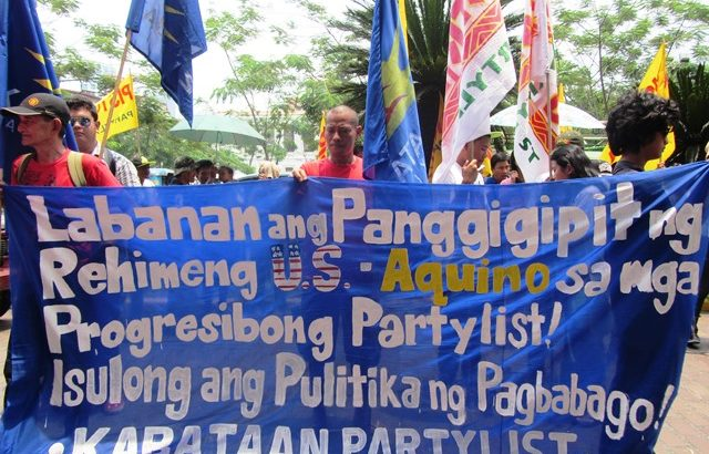 Aquino hand seen as behind Comelec's attempts at Piston, progressive partylists