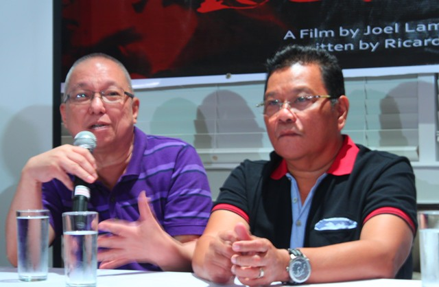 Scriptwriter Ricky Lee and director Joel Lamangan (Photo by Ronalyn V. Olea / Bulatlat.com)