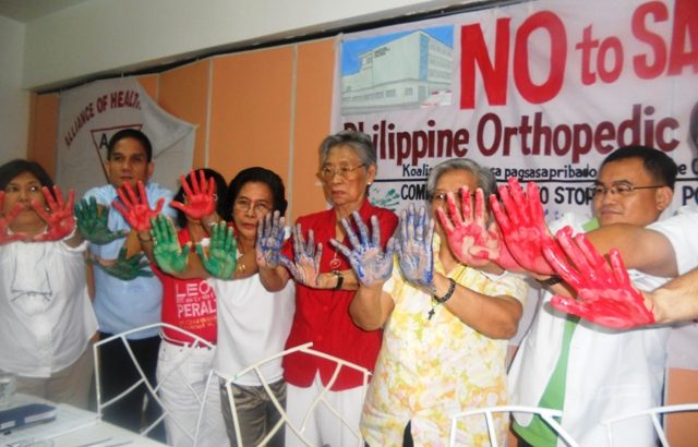 Health groups to seek legal remedy vs 'modernization' of Orthopedic Hospital