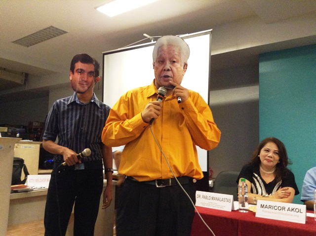 Bulatlat File Photo: Critics spoofed Comelec's Sixto Brillantes and  a Smartmatic rep