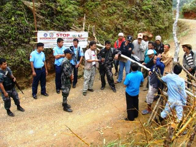 Mining-related militarization at Yabbi, Dupax del Norte, Nueva Vizcaya (Photo courtesy of KAMP, shot in NV in 2012)
