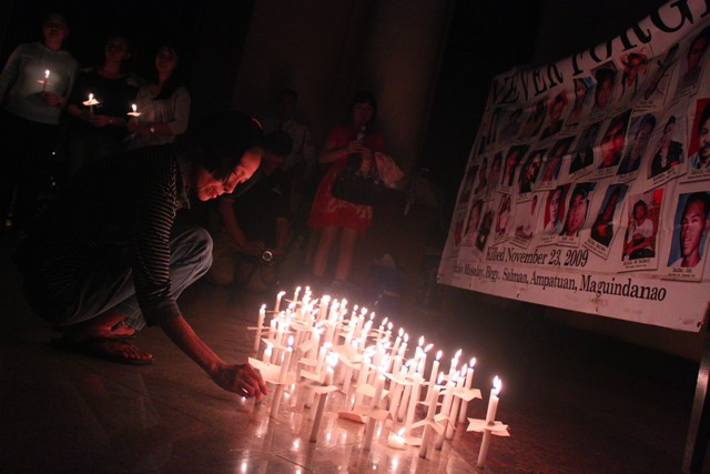 44th month ampatuan - candles