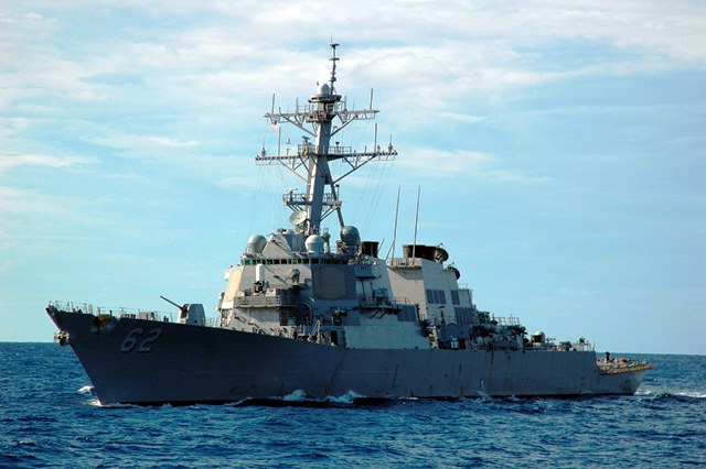 Guided missile destroyer USS Fitzgerald among U.S. Navy ships participating in CARAT Philippines. With Fitzgerald in CARAT are Destroyer Squadron (DESRON) 7 staff, the amphibious dock landing ship USS Tortuga (LSD 46) with embarked U.S. Marine Corps landing force, and the diving and salvage vessels USNS Safeguard (T-ARS 50) and USNS Salvor (T-ARS 52) with embarked Mobile Diving and Salvage Unit (MDSU) 1.   (Photo from US Embassy in Manila)