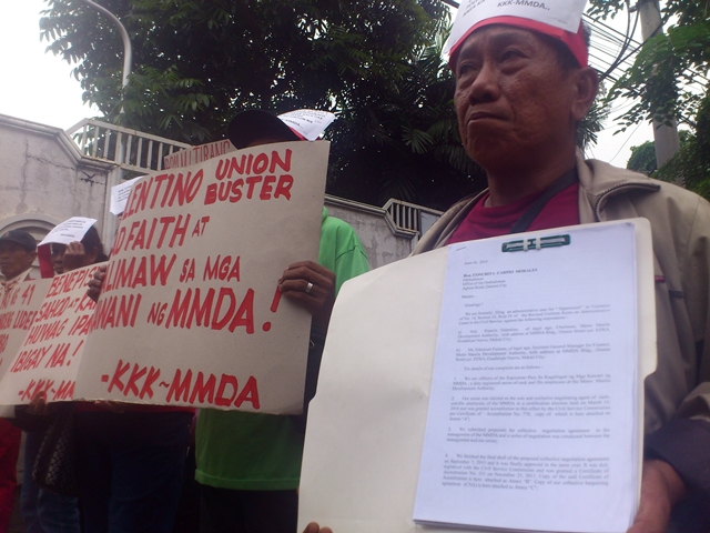 Workers file complaint vs MMDA chair Tolentino over CNA incentive, abuses