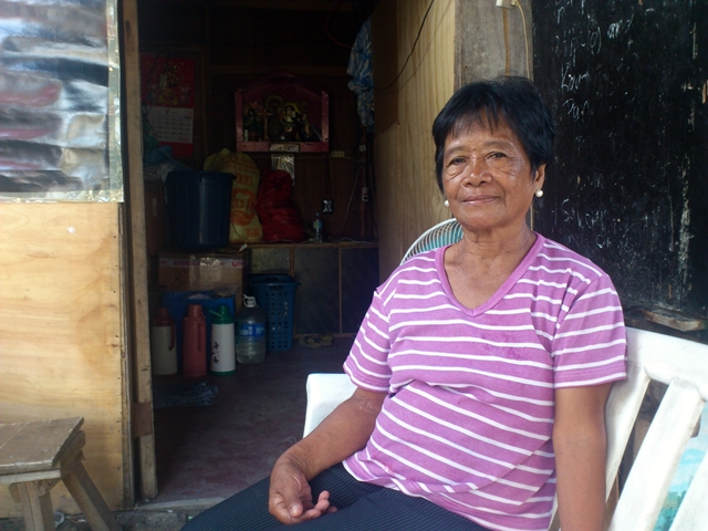 Isabelita Laurente, one of the first residents here in Carmina Homes. (Photo by Janess Ann J. Ellao / Bulatlat.com)