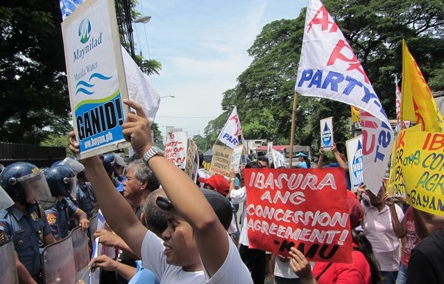 'Why let water firms charge all their expenses plus profits to consumers?' groups ask Aquino