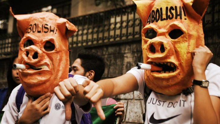 People power: Disgust over the pork barrel system and corruption