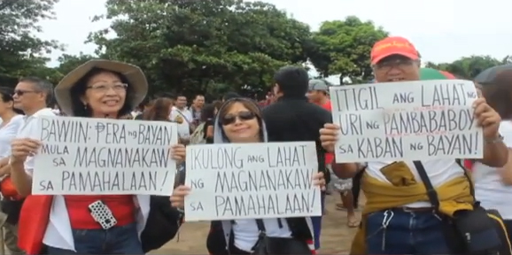 Filipinos speak out against pork barrel