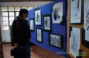 Dap-ayan ti Kultura ti Kordilyera (DKK) exhibited some of the artworks of social realist and one of a kind artist Artus Talastas at the University of the Philippines Baguio on July 31 to August 9. (Photo by Delia Bagni / Northern Dispatch)