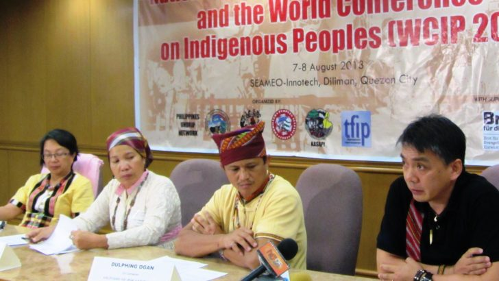 Indigenous peoples deplore Aquino government 'snub' of their agenda