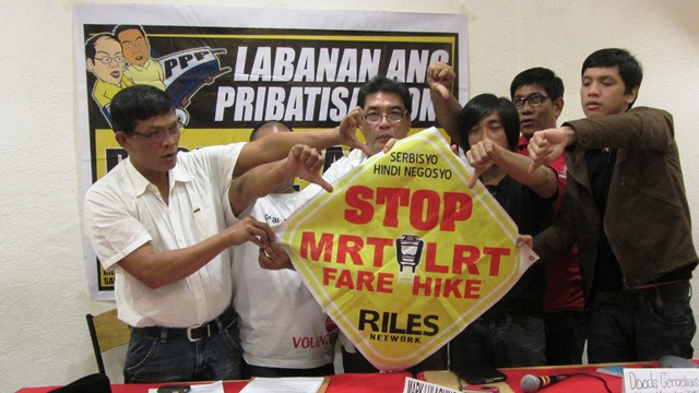 Various leaders of sectoral and consumer groups vow to continue holding mass actions against LRT-MRT fare hike, privatization (Photo by M. Salamat / Bulatlat.com)
