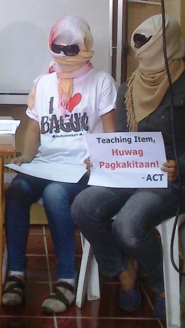 Newly-hired teachers victims of corruption. (Photo by Anne Marxze D. Umil/ Bulatlat.com)