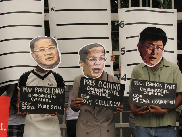 Environmentalists accuse these three of committing crimes against the environment, people