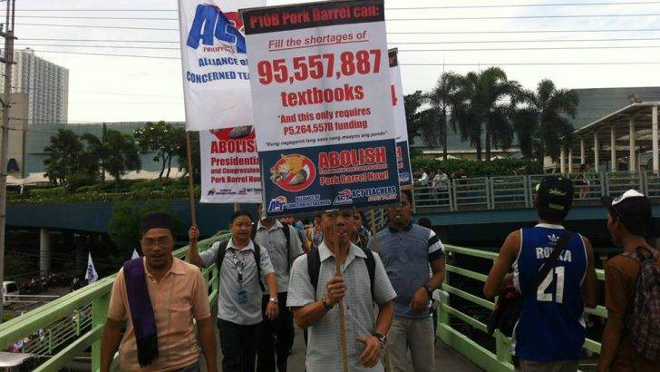 Teachers hold noise barrage vs pork barrel