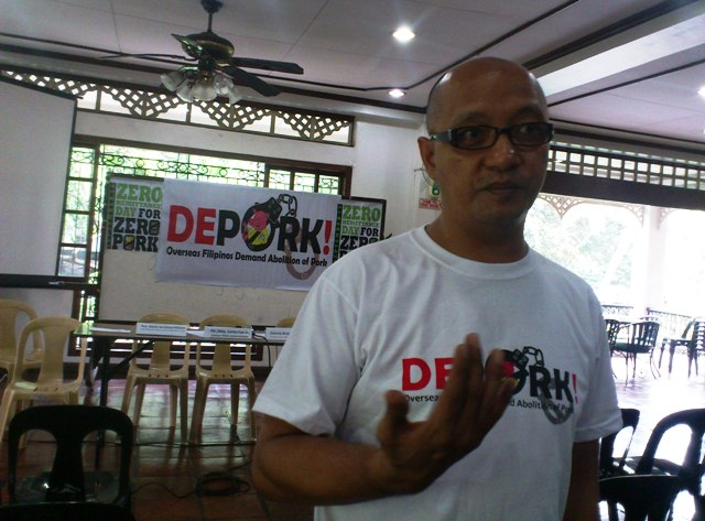 Garry Martinez, chair of Migrante International (Photo by Janess Ann J. Ellao / Bulatlat.com)