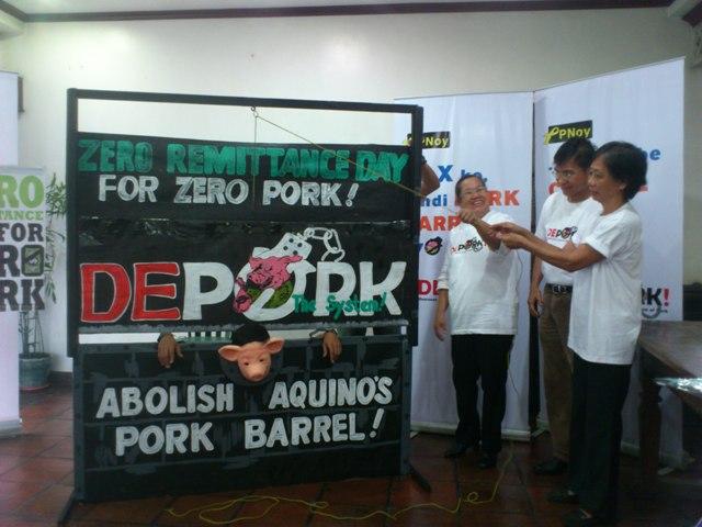 Migrant rights groups launch Depork vs pork barrel (Photo by Janess Ann J. Ellao / Bulatlat.com)