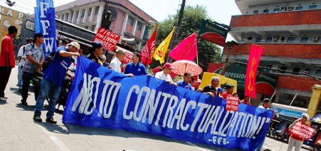 On World Day for Decent Work, workers march to Mendiola vs contractualization