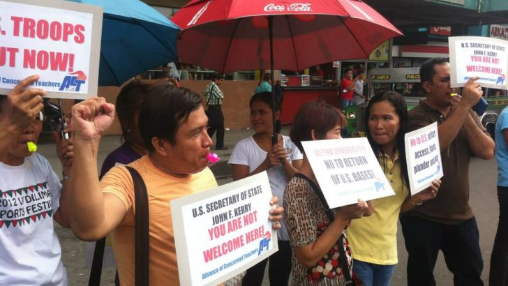 Teachers reject US military presence in Philippines