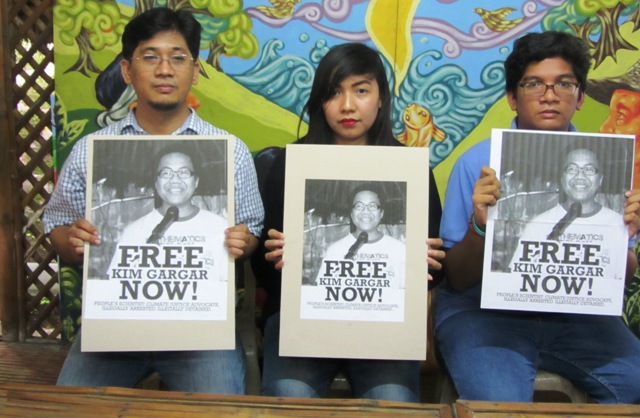 Kim Gargar's family and colleagues in Agham demand his immediate release, saying he's falsely accused.