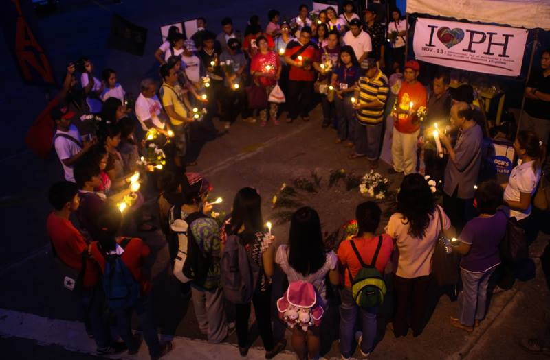 Candle lighting at Davao City (Photo from Anakbayan's Facebook/Bulatlat.com)