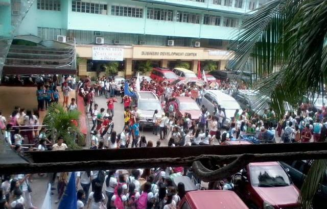 EARIST students walk out of classes vs 'construction fee'