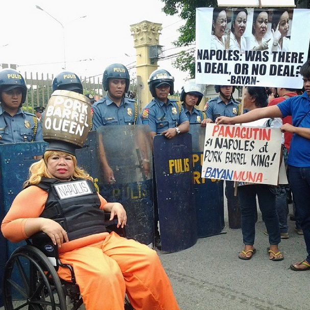 Juana Change as Napulis belies she owns many houses, says she only have two houses -- the lower house and the upper house. (Photo by J. Ellao / Bulatlat.com)