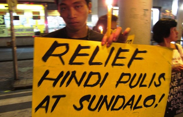 Progressive groups hold solidarity gatherings for typhoon victims, slam slow gov't response