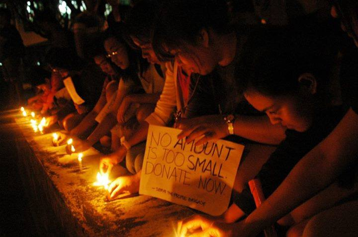 Candle lighting at UP-Los Banos (Photo from Anakbayan's Facebook/Bulatlat.com)