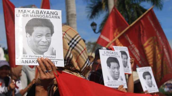 Southern Tagalog unionists pay tribute to labor leader