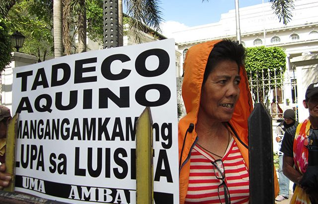 Luisita farmers file criminal raps vs Cojuangco firm, police