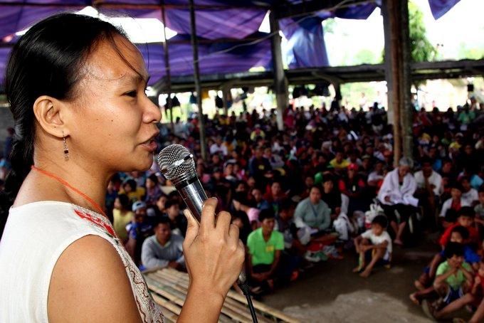 KAMP's Joan Jaime explaining PPIPR's objectives to the delegates of the Visayas-wide consultation. (Photo by Raymund B. Villanueva / Bulatlat.com)