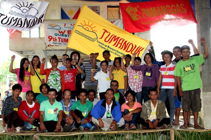 Executive and national council officers of Tumanduk, Inc. after their election and swearing in ceremony. (Photo by Raymund B. Villanueva / Bulatlat.com)