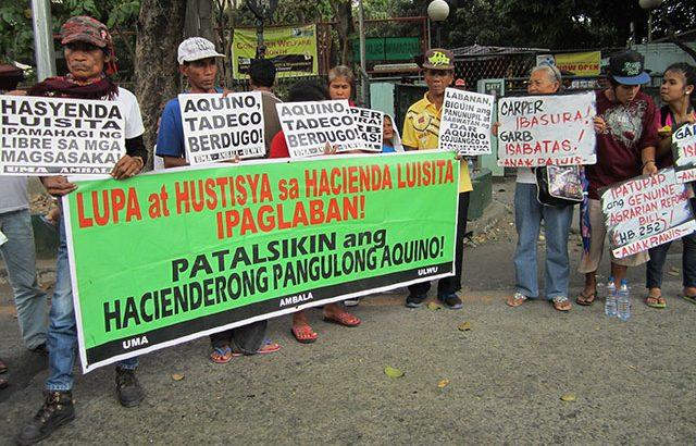 Has Hacienda Luisita been distributed? Look again