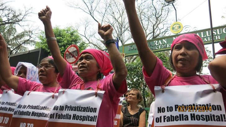 Women's group says no to privatization of gov't hospitals