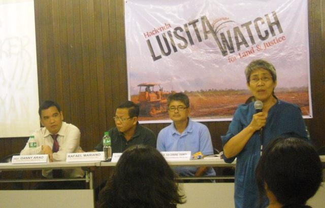 Network to monitor Hacienda Luisita land distribution launched