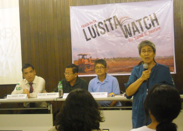 Luisita Watch will also campaign for the resumption of court proceedings of the Nov. 16, 2004 Hacienda Luisita massacre. (Photo by Anne Marxze D. Umil / Bulatlat.com)
