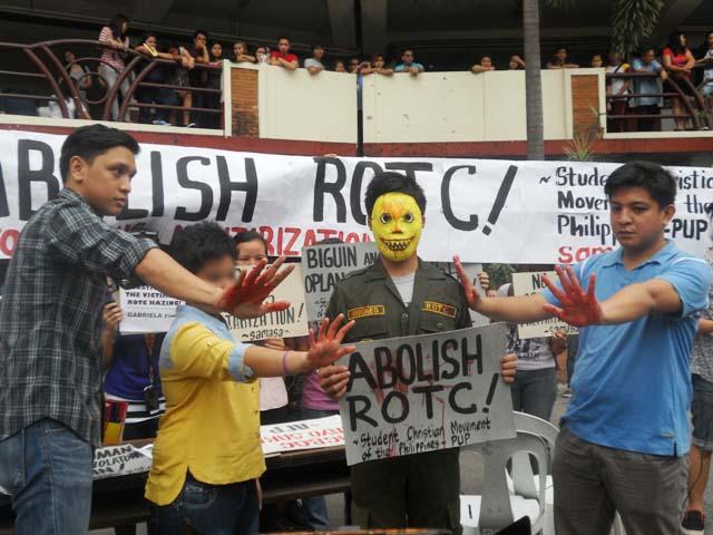 Sheena: Abolish ROTC (Photo Anne Marxze D. Umil / Bulatlat.com)