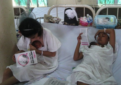 Fabella has 700 beds and often, two mothers share one bed with their babies. (Bulatlat.com file photo)